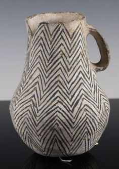 "artpropelled: ""  Rare Anasazi Gallup black and white pitcher """