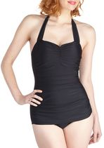 Esther Williams Bathing Beauty One Piece in Black | Mod Retro Vintage Bathing Suits | ModCloth.com