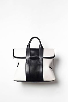Tricolor 31 Hour Bag in White-Black-Putty