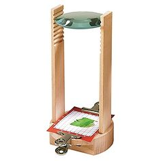 Kinder-Mikroskop aus Holz Film Transparent, Natural Toys, Toy Craft, Magnifying Glass, Mirror, Crafts, Exploration, Home Decor, Nature