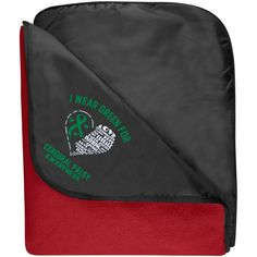 Fleece & Poly Travel Blanket - I Wear Green For Cerebral Palsy
