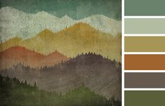 mountain view color palette, practical and could bring together all the colors of a room