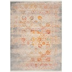 Classic rug design is beautifully renewed in the contemporary styling of the Zara Collection. Traditional motifs are invigorated in a marvelous collaboration of vivid colors, high-touch texture and a fashion-inspired patina, imparting timeless, heirloom elegance on room decor. Power-loomed for easy-care, long-lasting beauty.