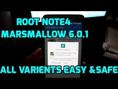 How to Root Galaxy Note 4 android Marshmallow 6.0.1 [All Models] F/H/C/U/J/K/L/S/T/P/G/W Easy & safe - YouTube