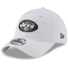 New York Jets New Era Core Classic Secondary Adjustable Hat - White. NFL  Caps   Hats 3da693a72