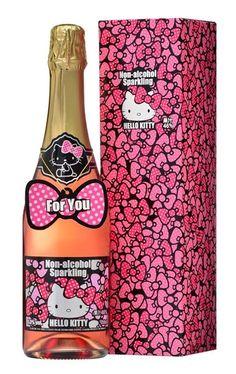 Hello Kitty non alcoholic sparkling PD