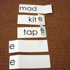 Silent E activity ... cards can be made for open and closed syllables as well