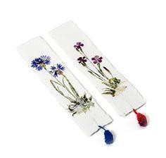 Zwei Lesezeichen aus handgeschöpftem Büttenpapier, aus reiner Baumwolle, mit Blüten und Gräsern verziert – jetzt bei Servus am Marktplatz kaufen. Marque Page, Reading, Products, Cotton