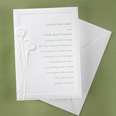 New Wedding Invitations For You Embossed Calla Lily Wedding