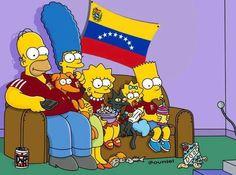 Los Simpsons apoyando La Vinotinto #Venezuela