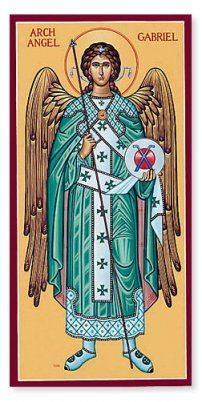 Archangel Gabriel (Jibrāʾīl) is called the chief of the four favoured angels and the spirit of truth. He is Allah's messenger to the prophets. At times Jibrāʾīl takes the form of a man. In Islam, he is also called the created Holy Spirit, which is not to be confused with the Holy Spirit of God in Christianity who is revered as God Himself.