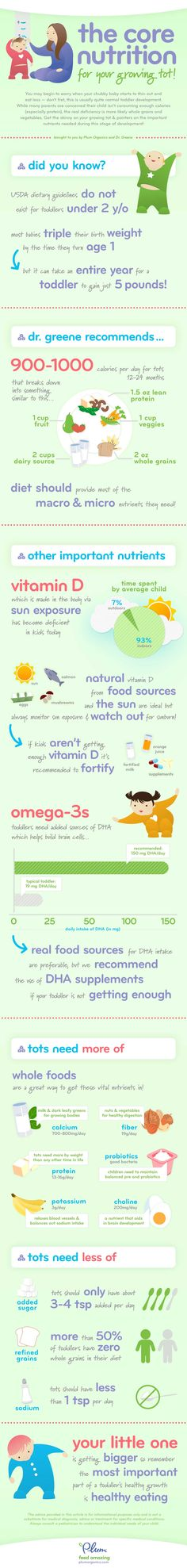 Toddler Nutrition & Development @ Pinfographics