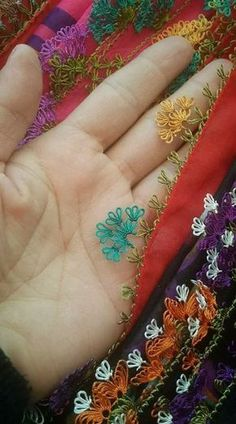 This Pin was discovered by Lal Embroidery Jewelry, Hand Embroidery, Needle Lace, Drops Design, Knitted Shawls, Vinyl Designs, Knitting Socks, Fabric Flowers, Hand Stitching