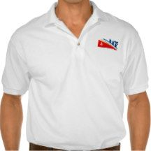 Nautical Anchor Boat Sea Ocean Ship Logo  White Polo Shirt
