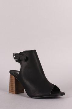 4135183dbcac Waste It On Me - Black Slingback Block Heels