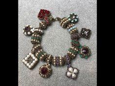 Interlace Beaded Bead & Tubular Herringbone Chain - A Bronzepony Beaded Jewelry Design Beaded Jewelry Designs, Seed Bead Jewelry, Handmade Jewelry, Jewelry Art, Beaded Bracelet Patterns, Beaded Necklace, Beaded Bead, Diy Jewelry Videos, Pony Beads