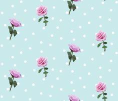 Vintage Rose fabric by buttonmushroom on Spoonflower - custom fabric