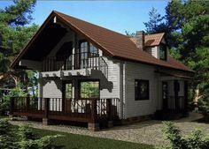 Проект дома из профилированного бруса 155 кв.м. Производим профилированный брус строим дома.