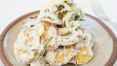 Roasted Potatoes with Yogurt, Dill, Lemon, and Garlic