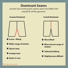 Dominant Seams - The Sewing Geek - Learn about dominant seams and how construction order affects fit.
