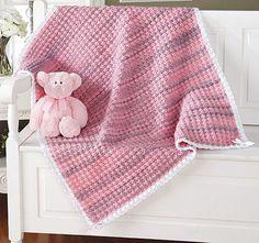 Mary Maxim - Sweet Bubbles Blanket - In Berry Blast Knit Or Crochet, Crochet Baby, Free Crochet, Crochet Afghans, Crochet Blankets, Knitting Patterns, Crochet Patterns, Crochet Ideas, Baby Afghans