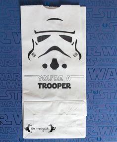 Star Wars Storm Trooper Favor Bags | Five Marigolds