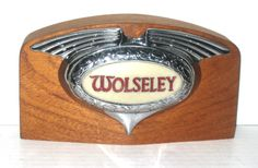 Wolseley Car Badge - This badge was fitted to most Wolseleys from the and It would have illuminated with the sidelights. The centre illuminated part was made by Lucas. Marked with the part number and AJW. Auto Logos, Car Logos, Logo Autos, Car Hood Ornaments, Car Radiator, Automotive Logo, Car Badges, Older Models, Car Illustration