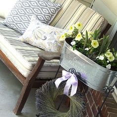 Summer is here and I have been wanting to dust off my front porch and give it a little color and pizzazz. And, there is no better way than with the help of my k…