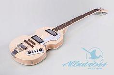 DIY Electric Bass Guitar Kit Set-In Flamed by AlbatrossGuitars