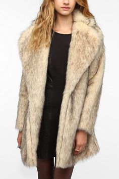 Not really into furs but this is a really nice looking faux fur-MINKPINK Cruella Faux Fur Coat   #UrbanOutfitters