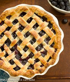 Lattice Topped Blueberry Pie | An ideal way to savor the juicy berries of the season!