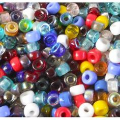 200 Czech Pressed Glass Crow Roller Large Pony Beads Mix 9x7mm with 3.5mm Hole $12.79