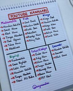 Dersler YouTube kanalları
