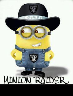 Minion raider of the lost ark Oakland Raiders Funny, Oakland Raiders Football, Raiders Baby, Football Team, Minions, My Minion, Raiders Stuff, Raider Nation, New Gadgets