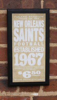 Replica vintage saints sign.