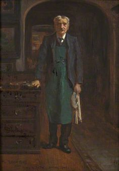 """""""The Butler"""", 1910, by George Percy Jacomb-Hood (British, 1857-1929)."""
