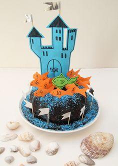 Quick Birthday Cake Decor- Castle In The Sea