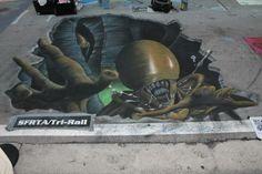 Annual Street Painting Festival in downtown Lake Worth Beach, Florida. Street Painting, Painting, Lion Sculpture, Statue, Art, Street Art