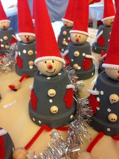 Noël 2014 décoration Noël 2014 - Noël 2014 decoration Noël 2014 Best Picture For diy For Your Taste You ar - Clay Crafts For Kids, Clay Pot Crafts, Christmas Crafts For Kids, Christmas Projects, Kids Christmas, Holiday Crafts, Christmas Wreaths, Christmas Gifts, Christmas Ornaments