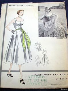 Vogue Paris Original 1182 by Jean Dessès | Sun Dress ca. 1950s
