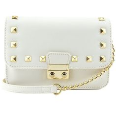 Amy Studded Mini Crossbody (56 BAM) ❤ liked on Polyvore featuring bags, handbags, shoulder bags, crossbody purses, cross-body handbag, studded handbags, mini shoulder bag and mini purse