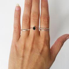 Little Silver Rings, Set | www.moonloft.nl