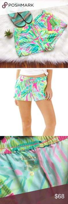 Lilly Pulitzer Tropical Storm Shorts NEW Brand new with tags luxletic Lilly Pulitzer run around shorts in the tropical storm print. Very hard to find in this pattern. Lilly Pulitzer Shorts