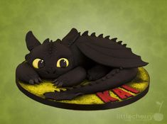 Toothless - Cake by Little Cherry