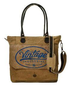 Blue 'Vintage Industrial' Messenger Bag #zulily #zulilyfinds
