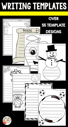 These writing templates are perfect to add in a writing center. This resource is designed to last ALL year. It is divided in categories. There are over 50 different template designs. Primary Classroom, Classroom Ideas, Teaching French, Writing Process, Educational Activities, Teaching Tips, Task Cards, Classroom Management, Teacher Resources