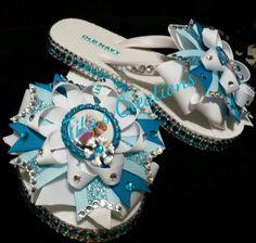 Frozen bow flip flops! :-)