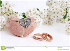 Picture Of Wedding Rings and Flowers