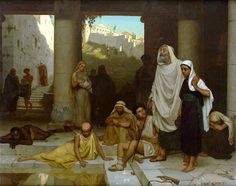 "Edmund Blair Leighton, ""The Blind Man at the Pool of Siloam"""