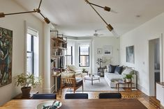 Skillful Design on a Doable Budget: Park Slope When interior designer Nora Calderwood and architect Adam Darter bought their one-bedroom apartment in Park Slope, they knew they would. One Bedroom Apartment, Apartment Living, Apartment Ideas, Cute Apartment, Small Apartments, Small Spaces, Small Space Design, Home Living Room, Living Spaces